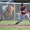 Action during the Dundee vs. HAC baseball game, May 14, 2015.