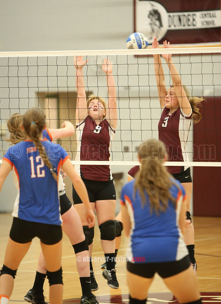 Dundee and Penn Yan Volleyball 10-2-15.