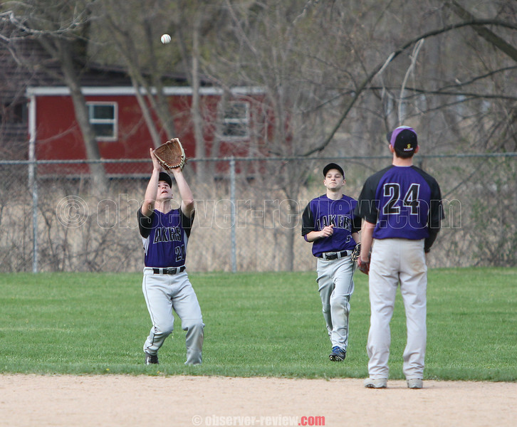 Action during the Hammondsport and Dundee baseball game, May 1, 2015.