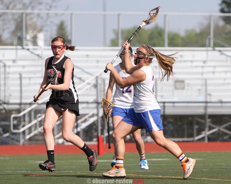 Action during the Penn Yan vs. Geneva girls lacrosse game, May 8, 2015.