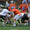 June 2, 2018; Buffalo, NY; USA; Action during the New York State Class D high school regional lacrosse game between the Penn Yan Mustangs and the Akron Tigers at All-High Stadium. Penn Yan won 12-11.  Photo: Dusty Blumbergs