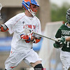 June 9, 2018; Pittsford, NY; USA; Action during the New York State Class D high school championship lacrosse game between the Penn Yan Mustangs and the Pleasantville Panthers at St. John Fisher College. Penn Yan lost 16-2.