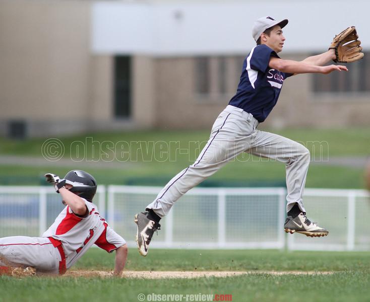 Action during the Watkins Glen vs. Spencer-Van Etten baseball game, May 13, 2015.