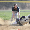 Action during the Watkins Glen vs. Notre Dame softball game, April 17, 2015.