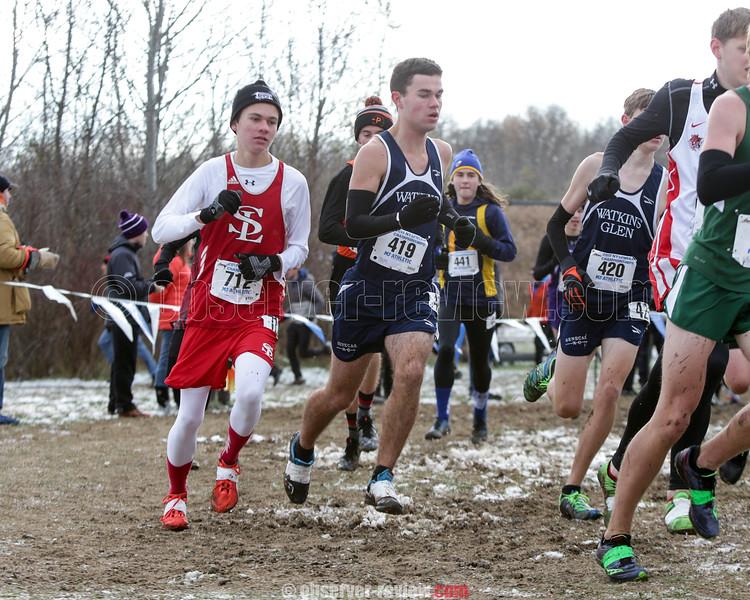 November 11, 2017; Wayne, NY; USA; Tanner Ryan (419) during the NYSPHSAA Class C Boys Cross Country Championship at Wayne High School. Photo: Christopher Cecere