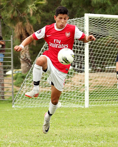 Justin playing for Arsenal FC U17 (Sept 2012)