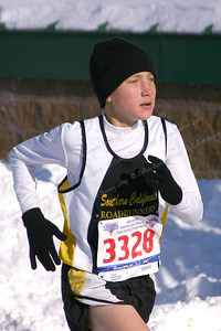 Southern California Road Runners run at the 2005 cross country Jr. Olympics in Smithville, RI.   Mike running in the Midget Boys (11-12 yr olds) at the USATF Jr. Olympics in Smithville, RI (Dec. 2005).  The SCRR Midget Boys were the silver medal team.