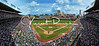 "Wrigley Field by Cincinnati Sports Photographer Vincent Rush. A panoramic shot by Vincent Rush at the ""Friendly Confines"" in Chicago during the Cincinnati Reds vs. The Chicago Cubs game on August 10th, 2012."