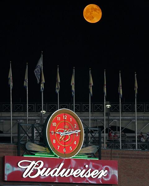 Full moon Turner Field Atlanta  Home of the Braves