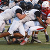 Globe/Roger Nomer<br /> Webb City's Cash Link is tackled by the Willard defense during Friday's game in Webb City.
