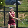 Globe/Roger Nomer<br /> Joplin's Maddi Bend lines up a shot during a home match against Neosho on Monday.