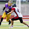 Globe|Israel Perez<br /> Monett's during their game on Friday night against Lamar at the Burl Fowler Stadium in Monett.