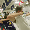Globe/Roger Nomer<br /> Hunter Berry, Sarcoxie junior, takes aim during archery practice.  Berry took first place in the state competition.