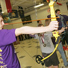 Globe/Roger Nomer<br /> Gavin Currey, Sarcoxie sophomore, aims a shot during practice for the archery team.