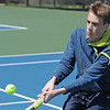 Globe/B.W.Shepherd<br /> Preston Carpenter returns a serve during the Thomas Jefferson Invitational Tournament at the Millennium Tennis and Fitness Club on Friday, April 12, 2013.