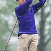 Globe/Roger Nomer<br /> Thomas Jefferson's Noah Wells tracks his tee shot on Monday at Schifferdecker Golf Course.