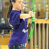 Sarcoxie archer Ariana Goddard prepares to release her arrow  during archery practice on Wednesday at Sarcoxie High School.<br /> Globe | Laurie Sisk