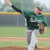Mount Vernon's Brett Campbell delivers from the mound during Mount Vernon's game against Carl Junction on Tuesday at CJHS.<br /> Globe | Laurie Sisk