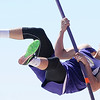 Sarcoxie's Christopher Comerford captures first place in the pole vault during Sarcoxie High School's first meet in 21 years on Saturday at SHS.<br /> Globe | Laurie Sisk