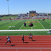 Runners take to the track on Saturday during Sarcoxie High School's first home meet in 21 years on Saturday at SHS.<br /> Globe | Laurie Sisk