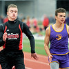 McDonald County's XXXX Russo and Thomas Jefferson's XXX Wilson cross the finish line during their heat of the 100m dash on Friday at CJHS.<br /> Globe | Laurie Sisk