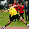 Missouri Southern's Daniel Hernandez competes in the javelin during the Bill Williams/Bob Laptad Invitational on Friday at MSSU.<br /> Globe | Laurie Sisk