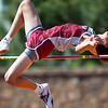 Joplin's Elijah Brown clears the bar in the Boys High Jump during the 28th Annual Jock's Nitch Gorilla Relays on Friday at Carnie Smith Stadium.<br /> Globe | Laurie Sisk