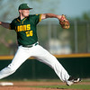 Missouri Southern's Seth Mesey throws from the mound during the Lions' game against Pittsburg State on Tuesday night at PSU.<br /> Globe | Laurie Sisk
