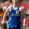 Carthage anchor XX XX brings home a second place finish for the Tigers in the Boys 4x800 Relay during the 28th Annual Jock's Nitch Gorilla Relays on Friday at Carnie Smith Stadium.<br /> Globe | Laurie Sisk
