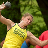 Missouri Southern's Desirea Buerge competes in the womens shot put on Friday during the Bill Williams/Bob Laptad Invitational on Friday at MSSU.<br /> Globe | Laurie Sisk