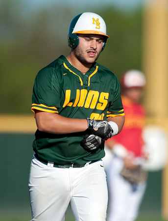 Missouri Southern's Dave Prost rounds the bases after a two-run homer during the Lions' game against Pittsburg State on Tuesday night at PSU.<br /> Globe | Laurie Sisk