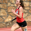Carl Junction's Maegan Derfelt runs the anchor leg of the Bulldog's second place 4x800m relay during the 29th Annual Jock's Nitch PSU Gorilla Relays on Friday at Carnie Smith Stadium.<br /> Globe | Laurie Sisk