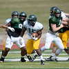 Missouri Southern wraps up its Spring practices on Friday at Fred G. Hughes Stadium.<br /> Globe | Laurie Sisk