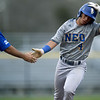 Northeastern Oklahoma's Erasmo Mavarez rounds the bases after a two-run homerun during the Norsemen's game against Crowder on Tuesday night at Joe Becker.<br /> Globe | Laurie Sisk