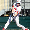 Webb City's Jacob Monroe connects for a two-run hit during the Cardinals' game against Ozark on Tuesday at Webb City.<br /> Globe | Laurie Sisk