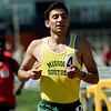 Missouri Southern's Victor Encarncion races to victory in his heat of the Men's 800m during the Bill Williams/Bob Laptad Invitational on Friday at Fred G. Hughes Stadium.<br /> Globe | Laurie SIsk