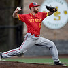 Pittsburg State's Andy Pagnozzi throws from the mound during the Gorillas game against Missouri Southern on Wednesday night at Warren Turner Field.<br /> Globe | Laurie Sisk