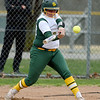 Missouri Southern's Shelby Friend connects for an rbi single to drive in fellow senior Abi Corbett on Senior Day during their game against Lincoln at MSSU.<br /> Globe | Laurie Sisk