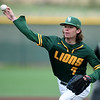 Missouri Southern's Jared Flores delivers a pitch to the plate during the Lions' game against Southwest Baptist on Saturday at Warren Turner Field.<br /> Globe | Laurie Sisk