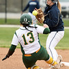 Missouri Southern's Erika Lutgen slides safely into second base as Lincoln's Rachael Balke tries to handle the throw during their game on Saturday at MSSU.<br /> Globe | Laurie Sisk