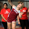 Joplin's Josie Bartlett competes in the shot put on Friday at JHS.<br /> Globe | Laurie Sisk