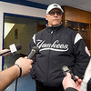 Former Yankee great Bucky Dent answers questions from reporters on Saturday at Commerce High School as the guest celebrity for the Mickey Mantle Classic.<br /> Globe | Laurie SIsk