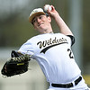 Neosho'sKaleb Moreland delivers a pitch to the plate during the Wildcats game against Sequoyah on Friday morning at Joe Becker.<br /> Globe | Laurie Sisk