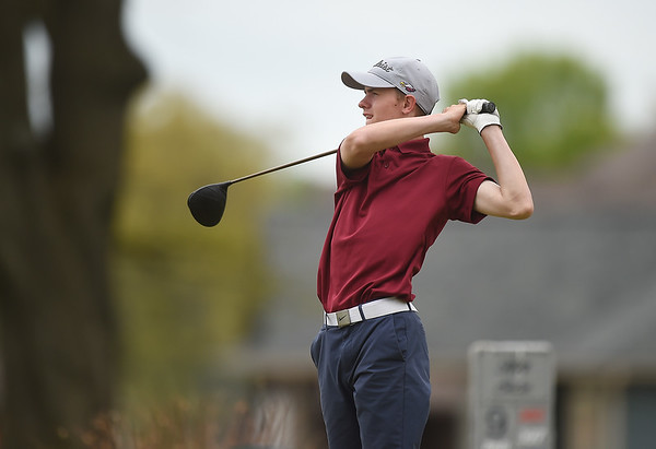 Joplin's Fielding Campbell tees off on Monday at Briarbrook Golf Course.<br /> Globe | Roger Nomer