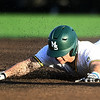 Missouri Southern's Troy Gagan (8) slides into second base for a double during the Lions game against Central Missouri on Friday night at Warren Turner Field.<br /> Globe | Laurie Sisk