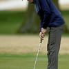 Joplin's Fielding Campbell watches his putt roll toward the cup on the no. 9 green during the Joplin Invitational on Thursday at Twin Hills.<br /> Globe | Laurie SIsk