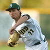 Missouri Southern's Zach Parish delivers a pitch to the plate during the Lions game against Central Missouri on Friday night at Warren Turner Field.<br /> Globe | Laurie Sisk