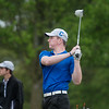 Carthage's Mason Bryant tees off on Monday at Carthage Golf Course.<br /> Globe | Roger Nomer