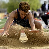 Joplin's Zach Westmoreland competes in the long jump during the Gorilla Relays on Friday at Pittsburg State's Carnie Smith Stadium.<br /> Globe | Laurie Sisk