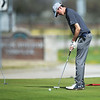 Ethan Sage, a sophomore at Joplin High School, putts on Monday at Schifferdecker Golf Course.<br /> Globe | Roger Nomer